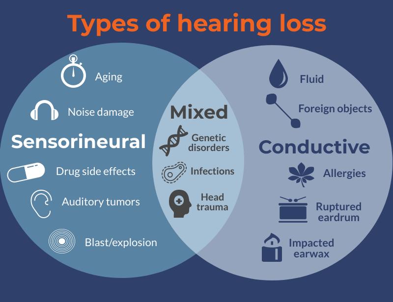 types of hearing loss